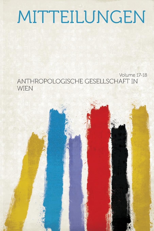 Mitteilungen Volume 17-18
