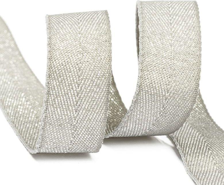 Фото - Тесьма киперная металлизированная Ideal, TBYT07, серый, 16 мм х 22,85 м тесьма ideal кружевная персиковый 4 см 45 7 м