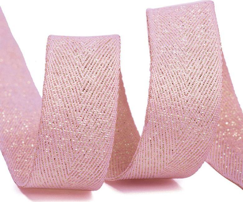 Фото - Тесьма киперная металлизированная Ideal, TBYT10, розовый, 16 мм х 22,85 м тесьма ideal кружевная персиковый 4 см 45 7 м