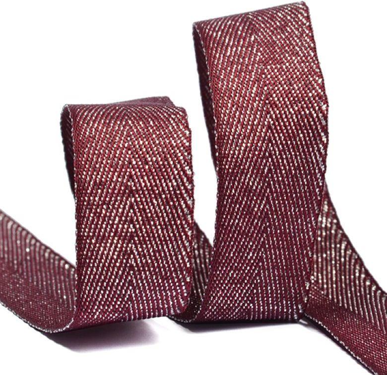 Тесьма киперная металлизированная Ideal, TBYT11, красный, 16 мм х 22,85 м