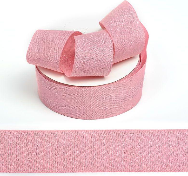 Фото - Тесьма киперная металлизированная Ideal, TBYT22, розовый, 40 мм х 22,85 м тесьма ideal кружевная персиковый 4 см 45 7 м
