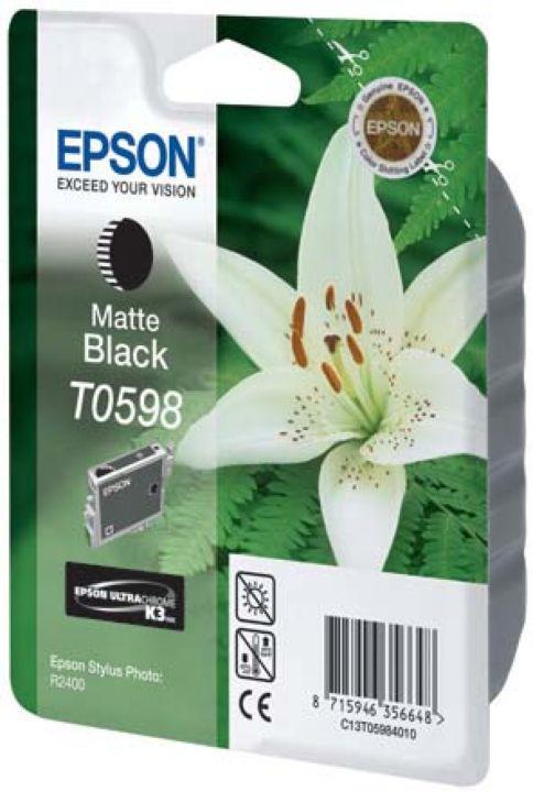 Картридж Epson T0598, черный, для струйного принтера, оригинал картридж epson t0598 черный матовый [c13t05984010]