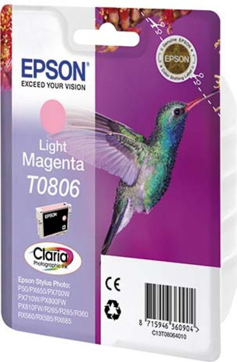 Картридж Epson C13T08064011 Light Magenta для принтеров Epson Stylus Photo P50/PX660, светло-пурпурный картридж original epson [t034340] для epson stylus photo 2100 magenta