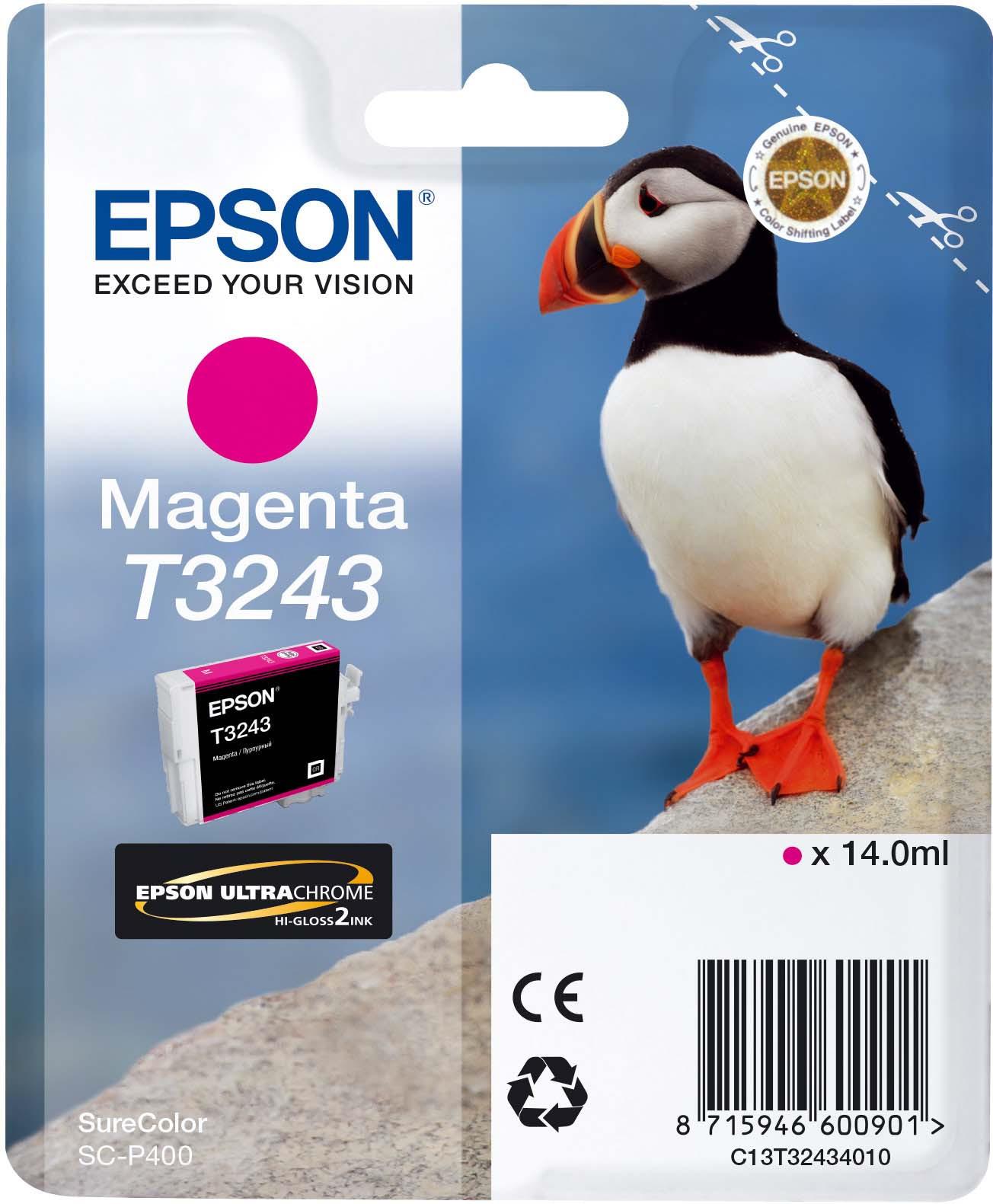 Картридж Epson C13T32434010 Magenta для принтеров Epson SC-P400, пурпурный