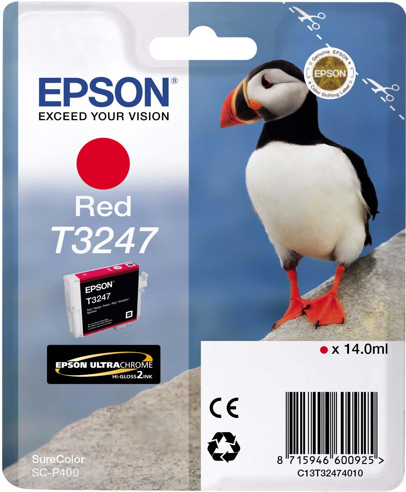 Картридж Epson C13T32474010 Red для принтеров Epson SC-P400, красный
