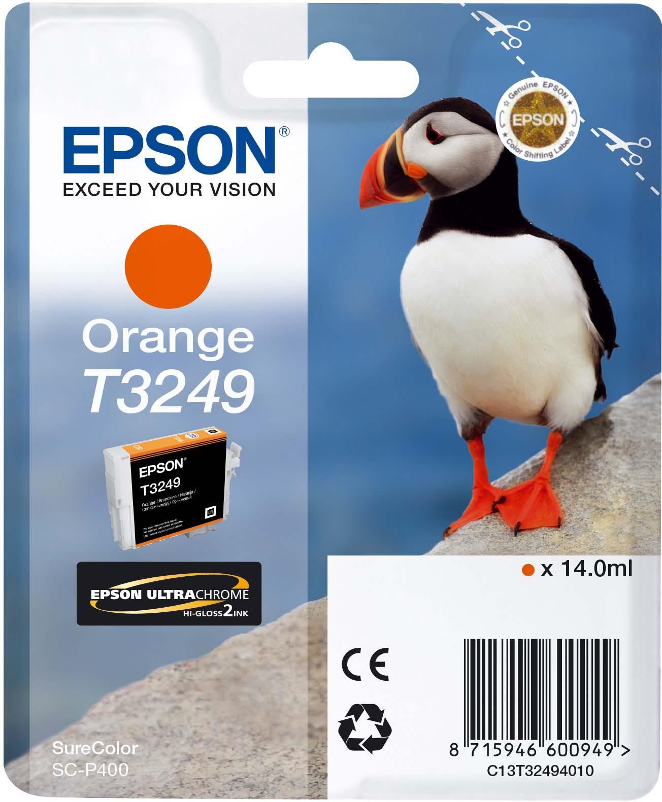 Картридж Epson C13T32494010 Orange для принтеров Epson SC-P400, оранжевый