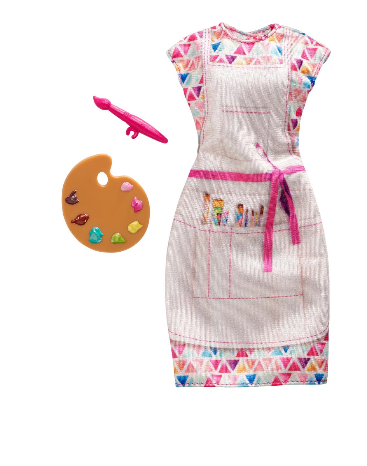 Набор аксессуаров для кукол Barbie Кем быть? Художник, FND49_FXH98 эксмо книжка с наклейками barbie ты можешь стать кем захочешь 400 наклеек