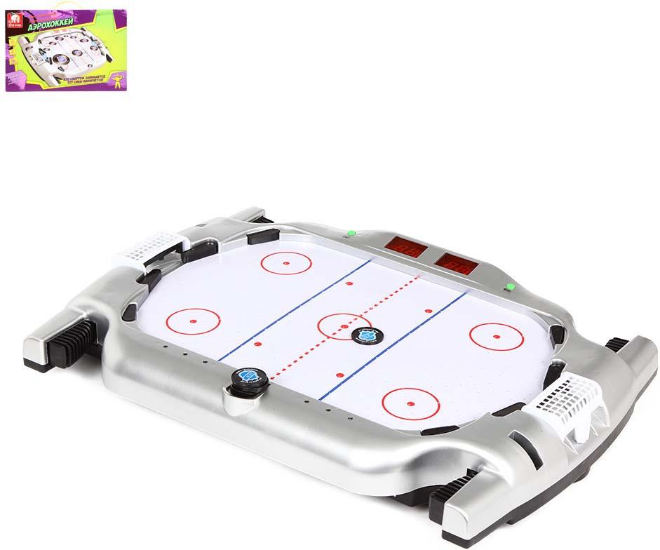 Настольная игра S+S Toys Аэрохоккей, на батарейках, SS-00687838 настольная игра s s toys сумашедшее ведро 200153749 1124626