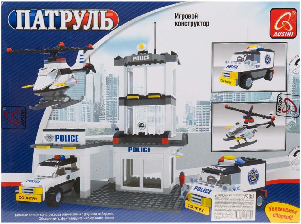 Игровой набор Ausini Полиция, A23801 набор для конструирования ausini ферма 177 деталей