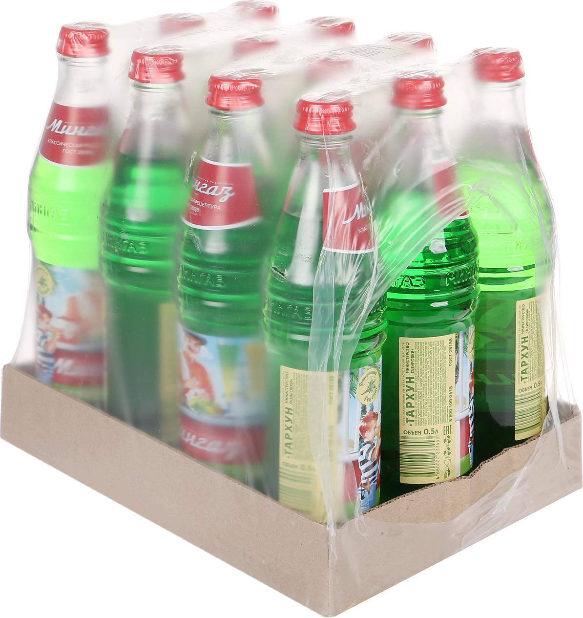 лимонад министерство газировки таежная сказка 6 шт по 1 5 л Лимонад Министерство Газировки Тархун, 12 шт по 500 мл