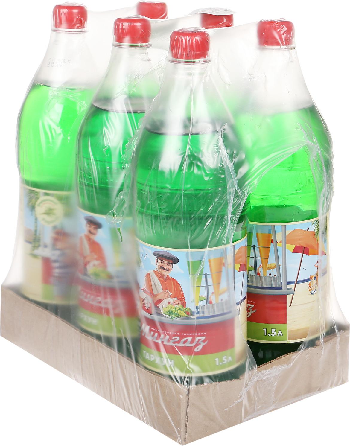 Лимонад Министерство Газировки Тархун, 6 шт по 1,5 л