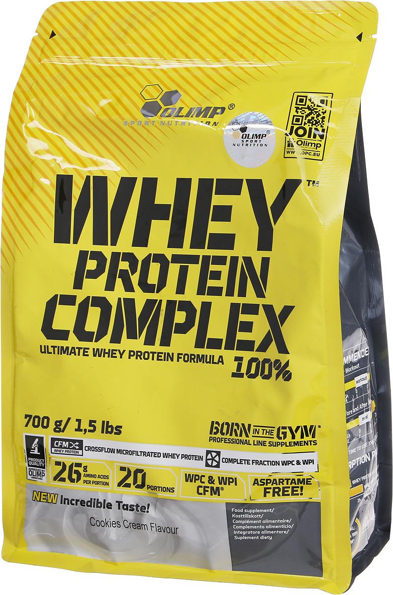 Протеин Olimp 100% Whey Protein Complex, крем-печенье, 700 г pure protein протеин pure protein egg protein шоколадное печенье 600 г
