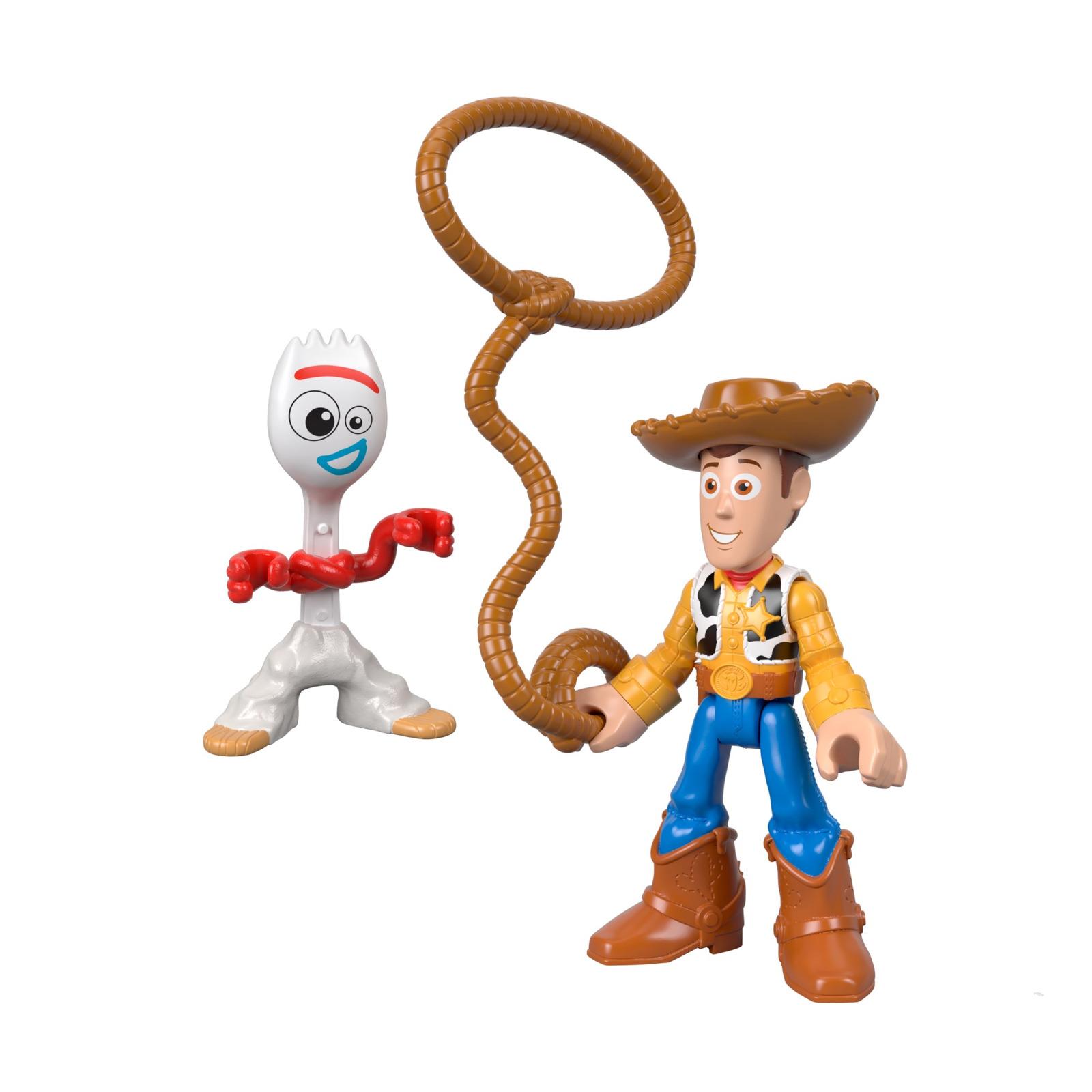 Фигурка Imaginext История игрушек-4 Вуди и киногерой, GBG89_GBG90 imaginext фигурка dc super friends