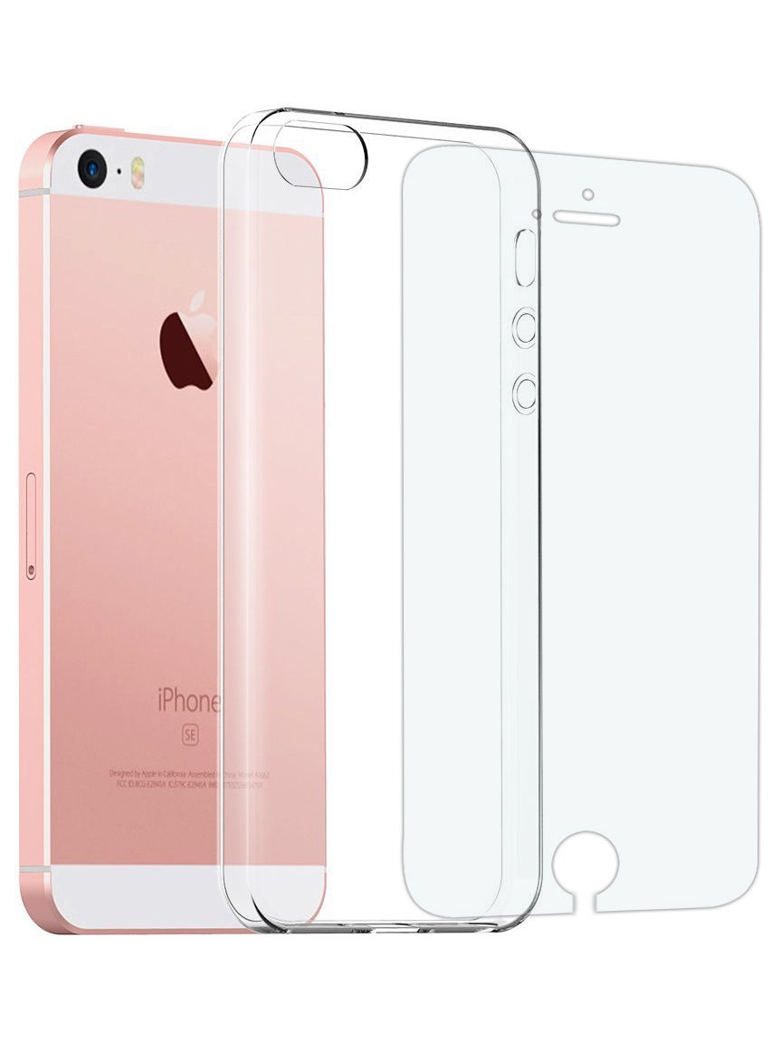"Чехол для сотового телефона UVOO ""Carbon kit"" для Apple iPhone 5/5s/SE, прозрачный"