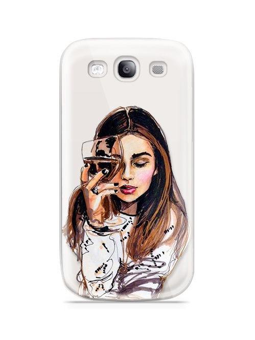 """Чехол для сотового телефона With love. Moscow """"Art design"""" для Samsung Galaxy S3, прозрачный"""