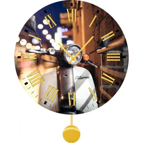 Настенные часы Kitch Clock 40120084012008Механизм: Кварцевый. Корпус: Дерево. Размер: Диаметр 40 см