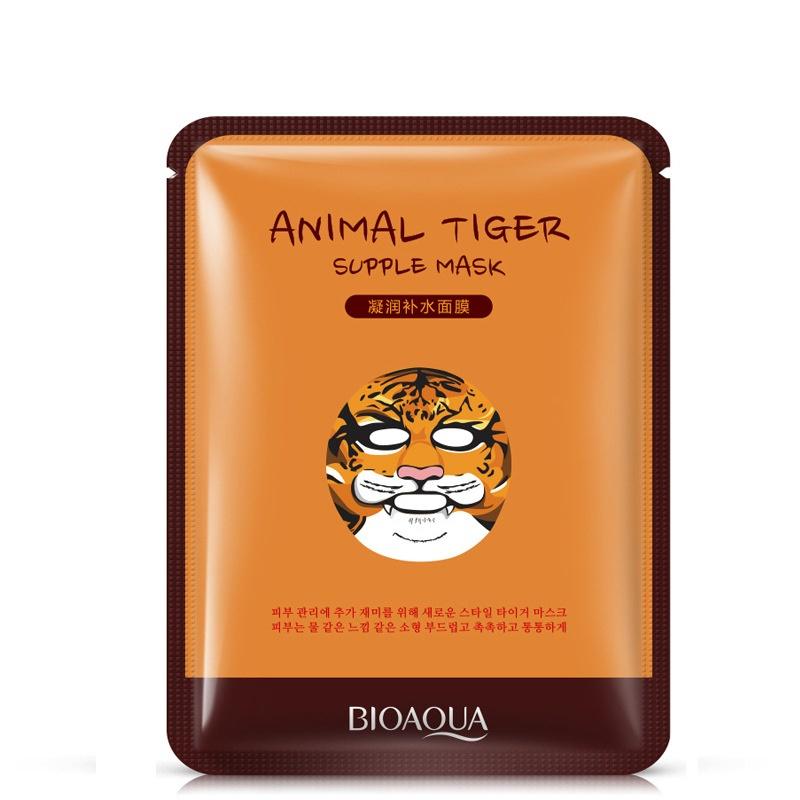 Маска косметическая BIOAQUA маска для лица Тигренок, 30 гр. маска косметическая bioaqua bioaqua маска для лица с экстрактом ромашки 30 гр