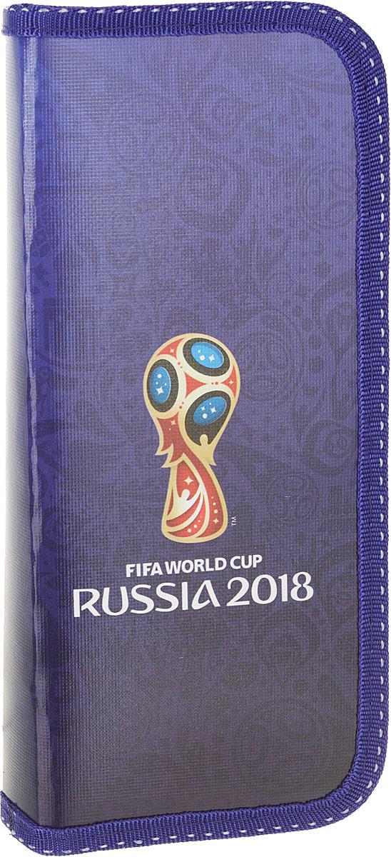 Пенал Hatber ЧМ по футболу 2018 Кубок мира, H254172, синий