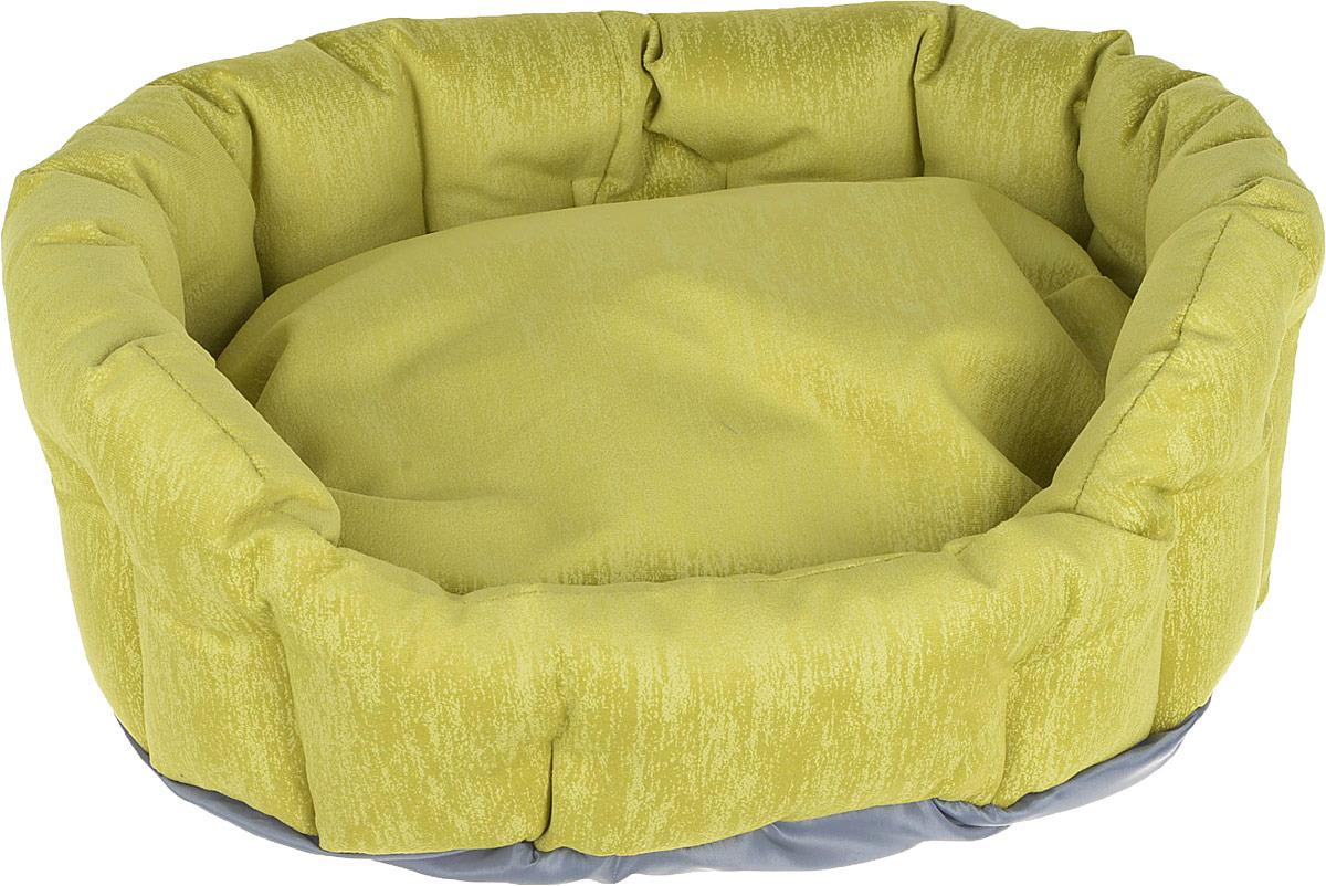 Лежак для животных CLP Оливия S с бортиком, овальный, 50 х 43 х 18 см ас зоо лежак с бортиком пэчворк 2 49х38