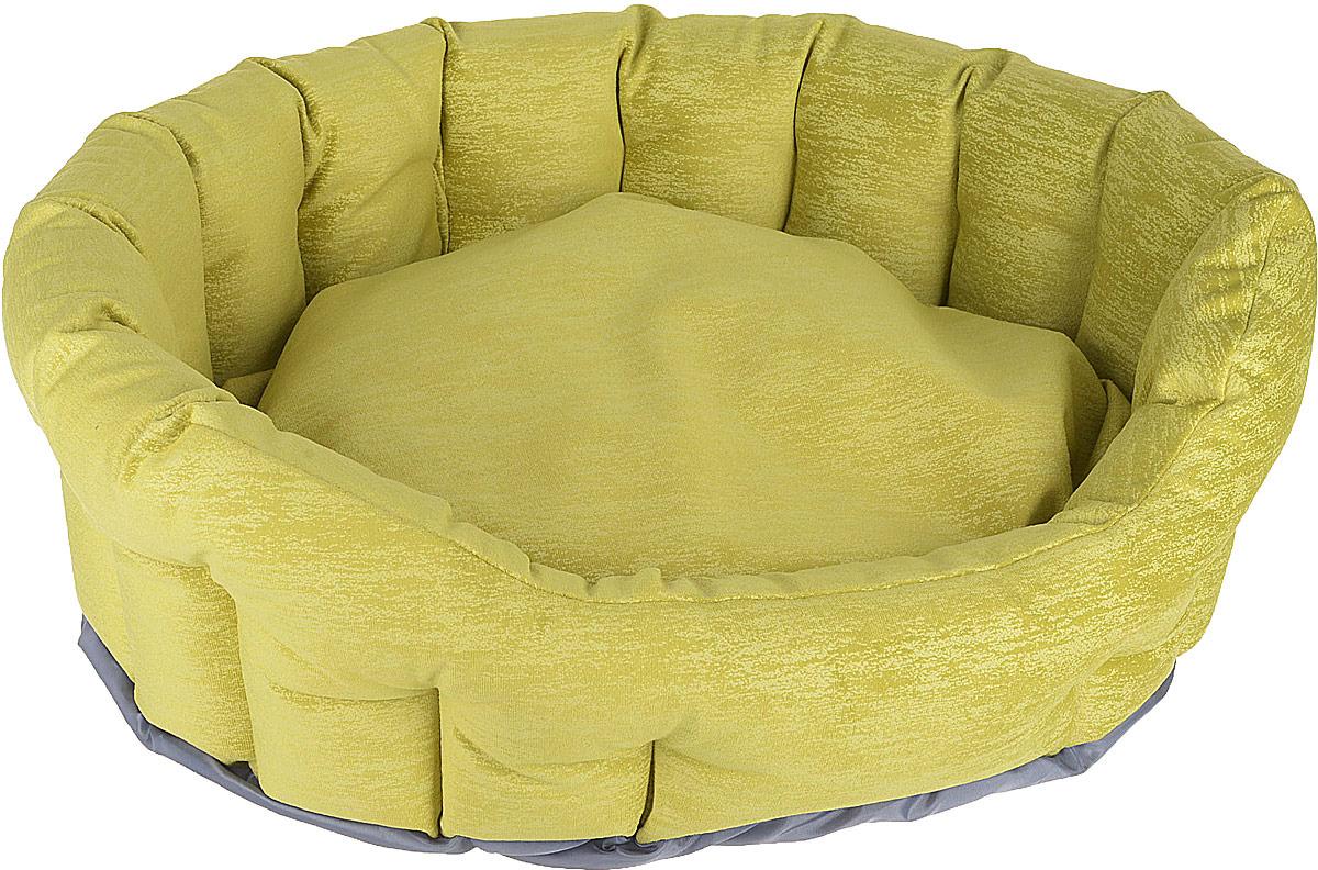 Лежак для животных CLP Оливия М с бортиком, овальный, 57 х 48 х 19 см ас зоо лежак с бортиком пэчворк 2 49х38