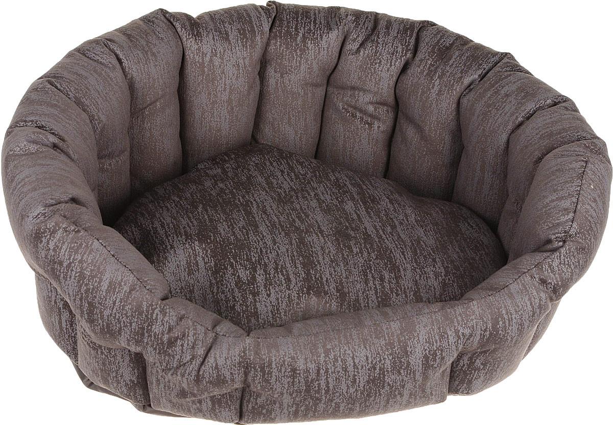 Лежак для животных CLP Махагон S с бортиком, овальный, 50 х 43 х 18 см ас зоо лежак с бортиком пэчворк 2 49х38