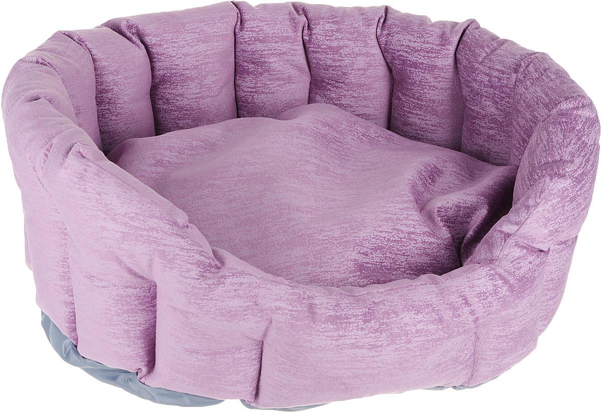 Лежак для животных CLP Валенсия М с бортиком, овальный, 57 х 48 х 19 см ас зоо лежак с бортиком пэчворк 2 49х38