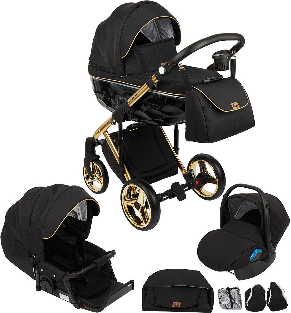 Коляска Adamex Chantal 3 в 1, C1, черный коляска модульная vikalex bellante 3 в 1 leather vinoso
