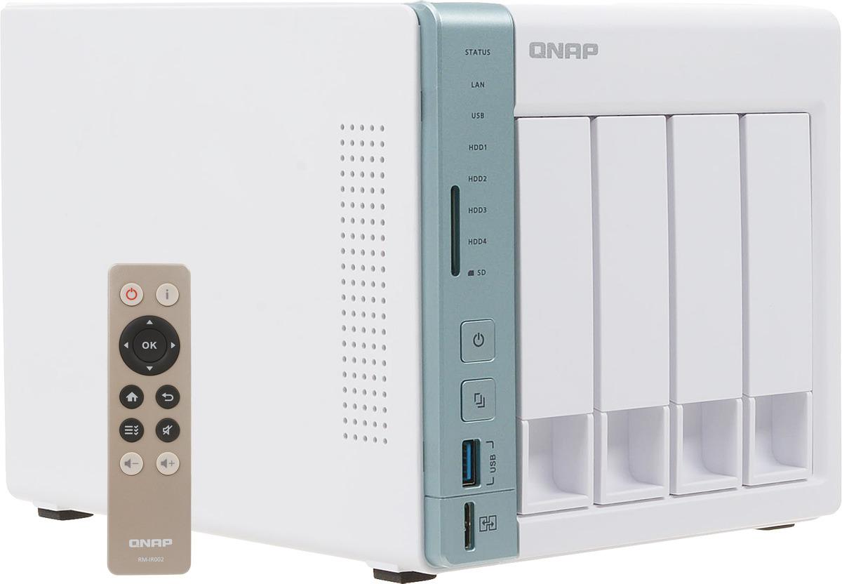 Сетевое хранилище QNAP Original, D4 PRO 4-bay сетевое хранилище apple time capsule 3tb me182ru a