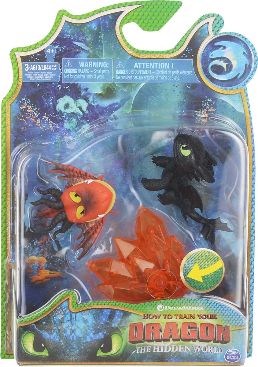 Набор игровой Dragons 2 фигурки и кристалл, 66629, высота 8 см, в ассортименте игровой набор любимый персонаж 5 см в ассортименте