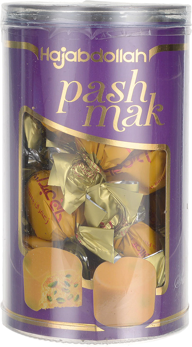 Конфеты из пашмалы Hajabdollah с шафраном и фисташками в шафрановой глазури, 200 г чекме халва с фисташками vkusnotoria 126 г