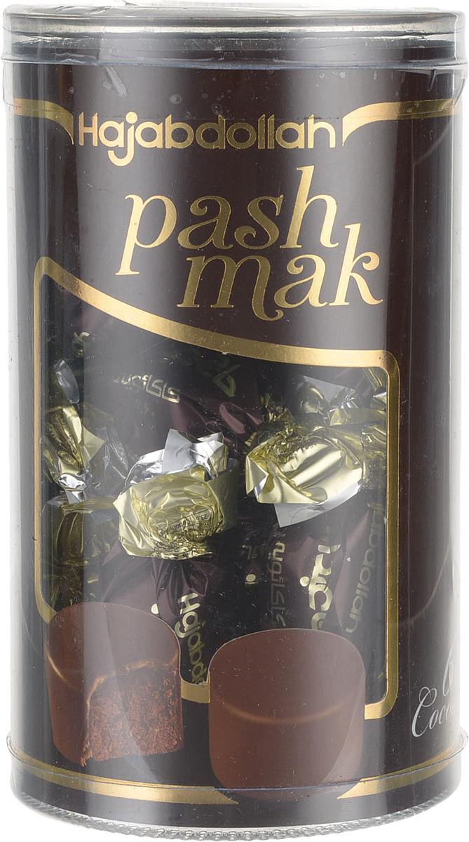 Конфеты из пашмалы Hajabdollah со вкусом горького шоколада 60% в шоколадной глазури, 200 г коммунарка цитрон топ глазированная помадка со вкусом лимона конфеты 200 г