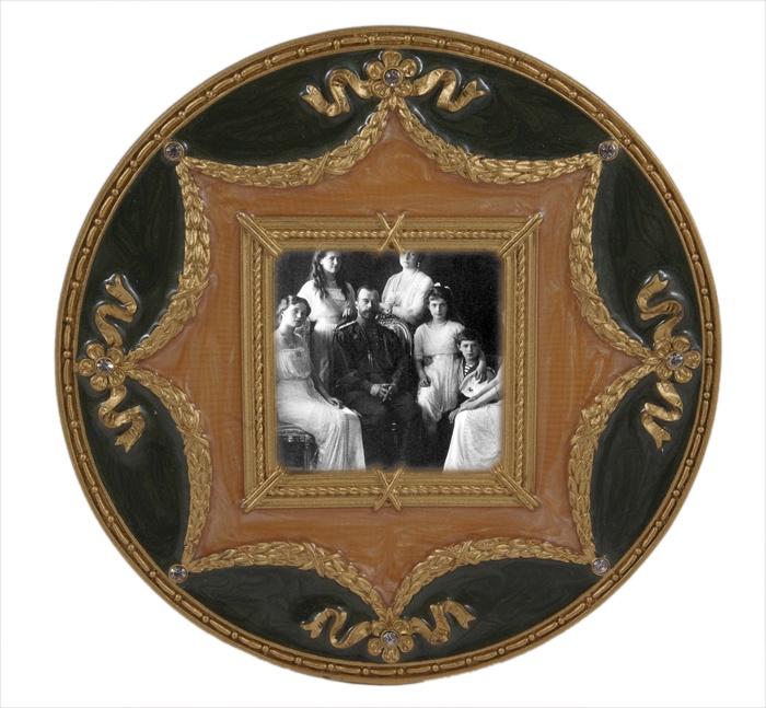 Фоторамка Антик Хобби круглая, зеленый, золотой, бежевый фоторамка круглая металл эмаль австрийские кристаллы вторая половина хх века