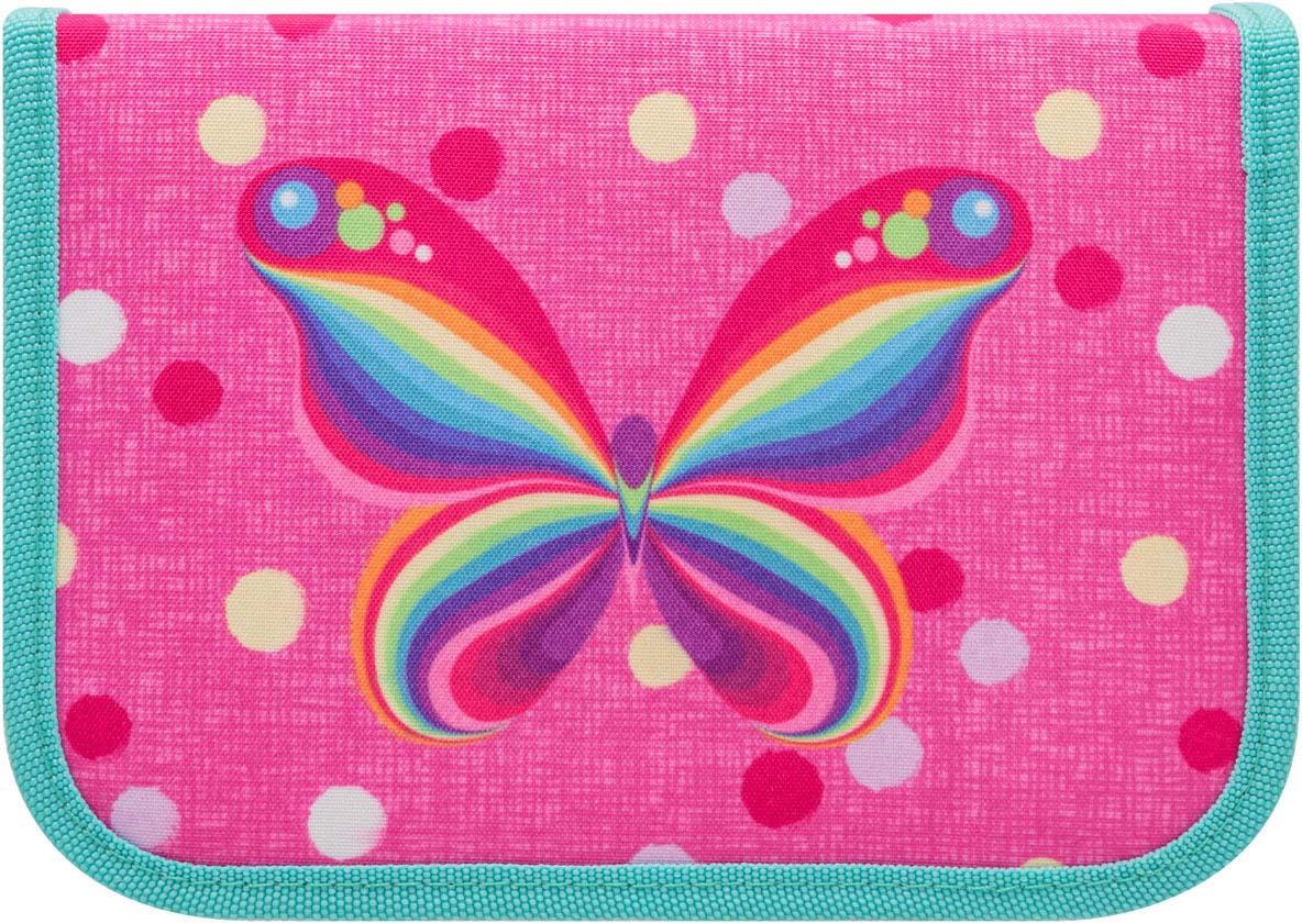 Пенал Tiger Family Nature Quest Rainbow Butterfly, 1929 E/G/TG, розовый портфель ортопедический tiger enterprise tiger max разноцветный в ассортименте 3603 tg 3603 tg