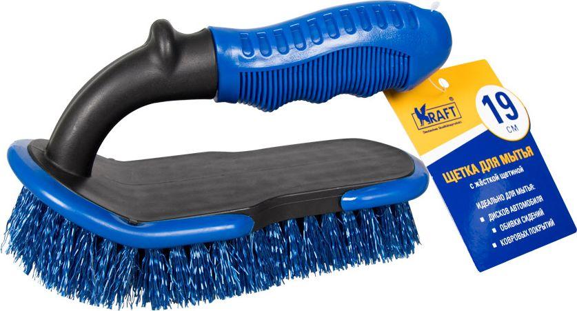 Щетка для автомобиля Kraft с жесткой щетиной, KT 830049, 19 см
