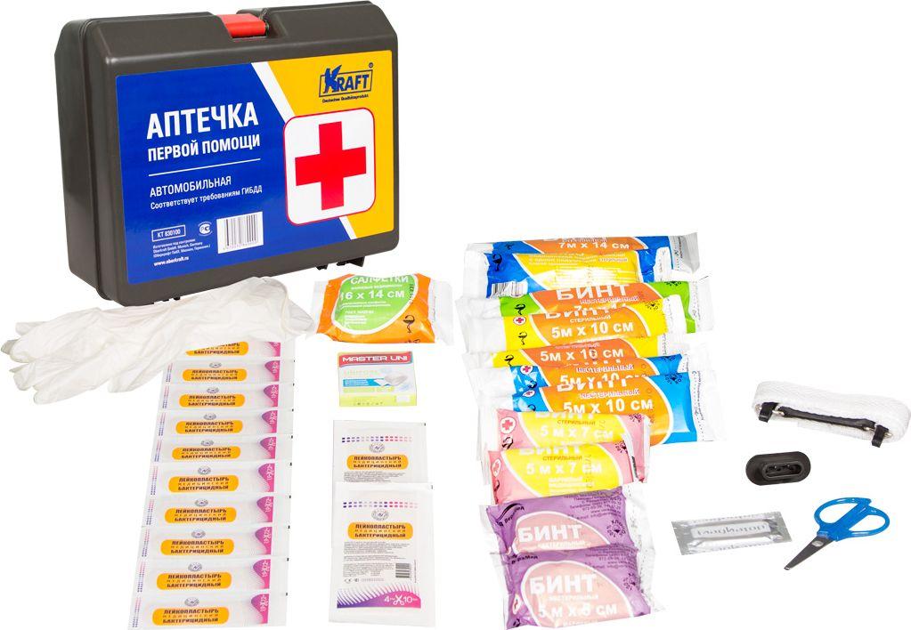 Аптечка автомобильная Kraft Аптечка первой помощи, KT 830100