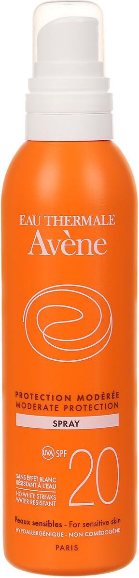 Avene Солнцезащитный спрей SPF20, 200 мл