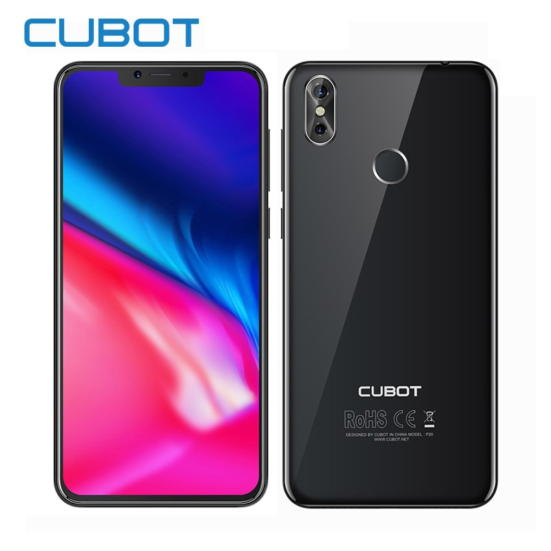 Смартфон Cubot P20 4/64 Гб, черный cubot gt72 dual core android 4 4 wcdma bar phone w 4 0 ips wi fi 4gb rom white
