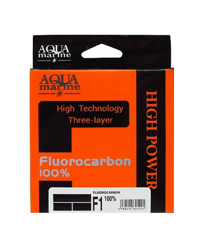 Леска для рыбалки Aqua marine флюрокарбон, прозрачный леска aqua fc ultra fluorocarbon 100