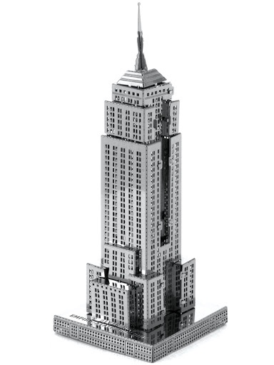 3D Пазл Город Игр сборная модель небоскреба Empire State Building L, серия Вундеркинд 3d metal puzzle panavia tornado j 20 fighter building model diy laser cut toys educational model gift for kids adults