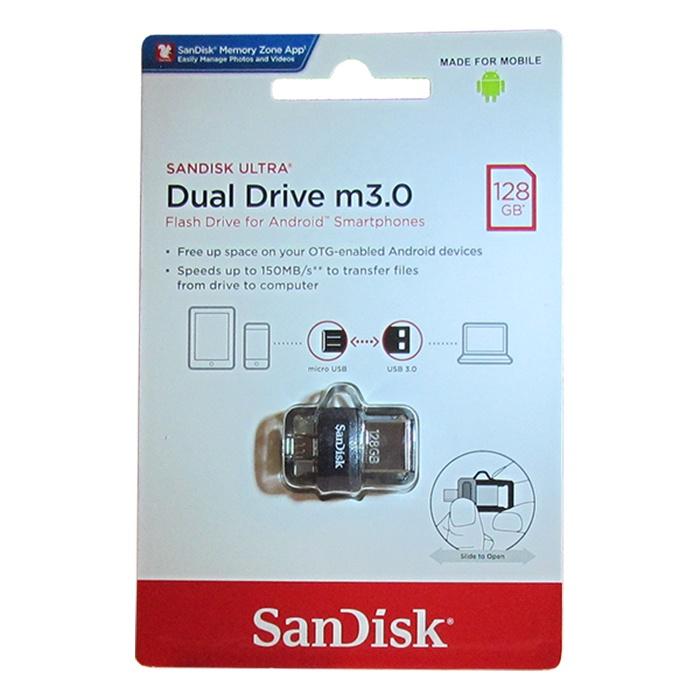 USB Флеш-накопитель SanDisk Ultra DDD3 USB + micro USB 3.0 128GB
