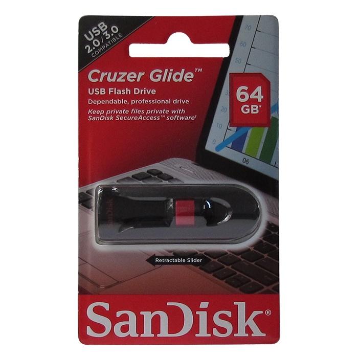 цена на USB Флеш-накопитель SanDisk Cruzer Glide 64GB USB 2.0