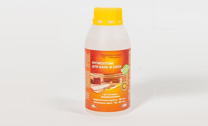 Антисептик для бань и саун GOODHIM S200, 0,5 л деревозащитный состав для бань и саун neomid professional 200 500 мл