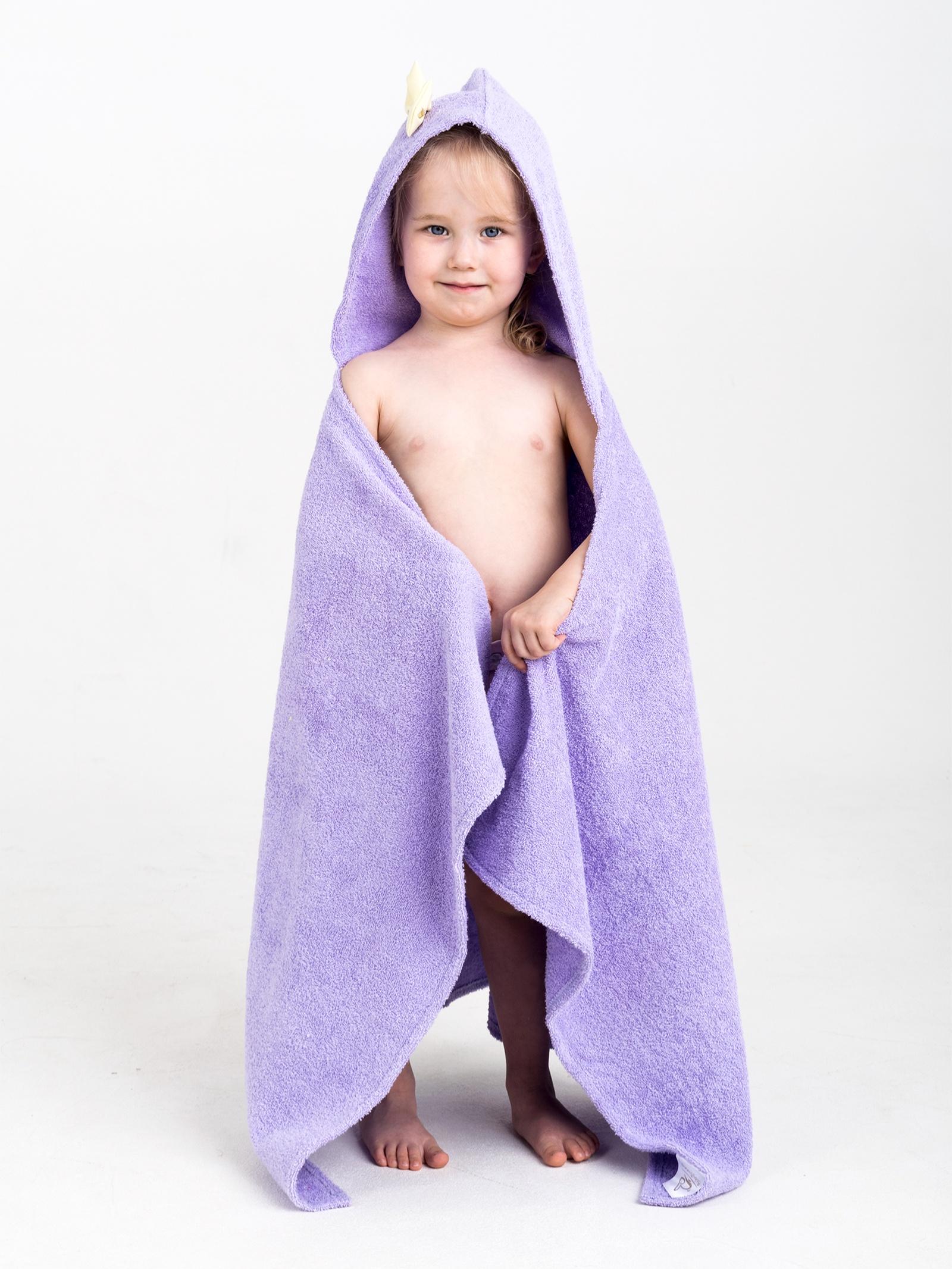Полотенце с капюшоном BabyBunny - Лиловое, M, сиреневый imsevimse полотенце с капюшоном cова