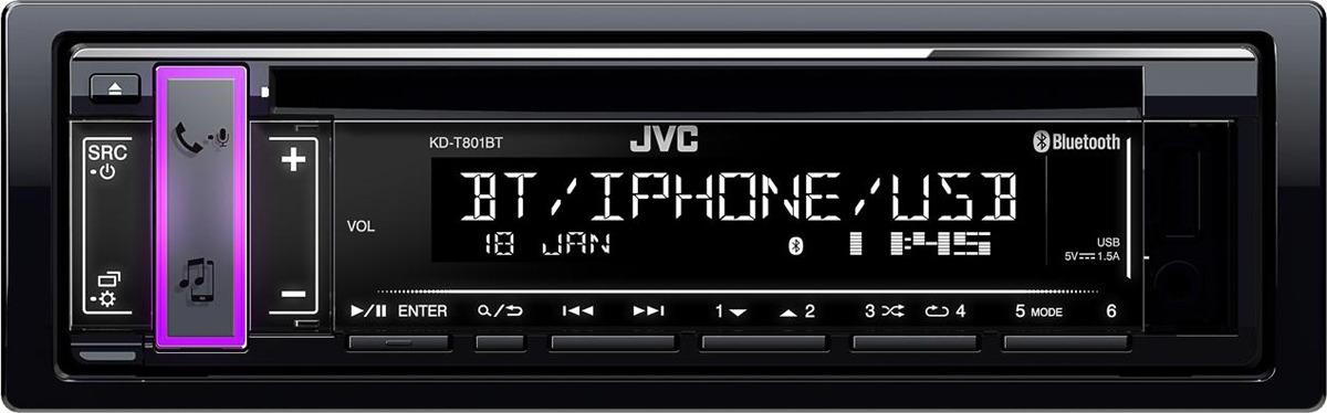 лучшая цена Автомагнитола CD JVC KD-T801BT