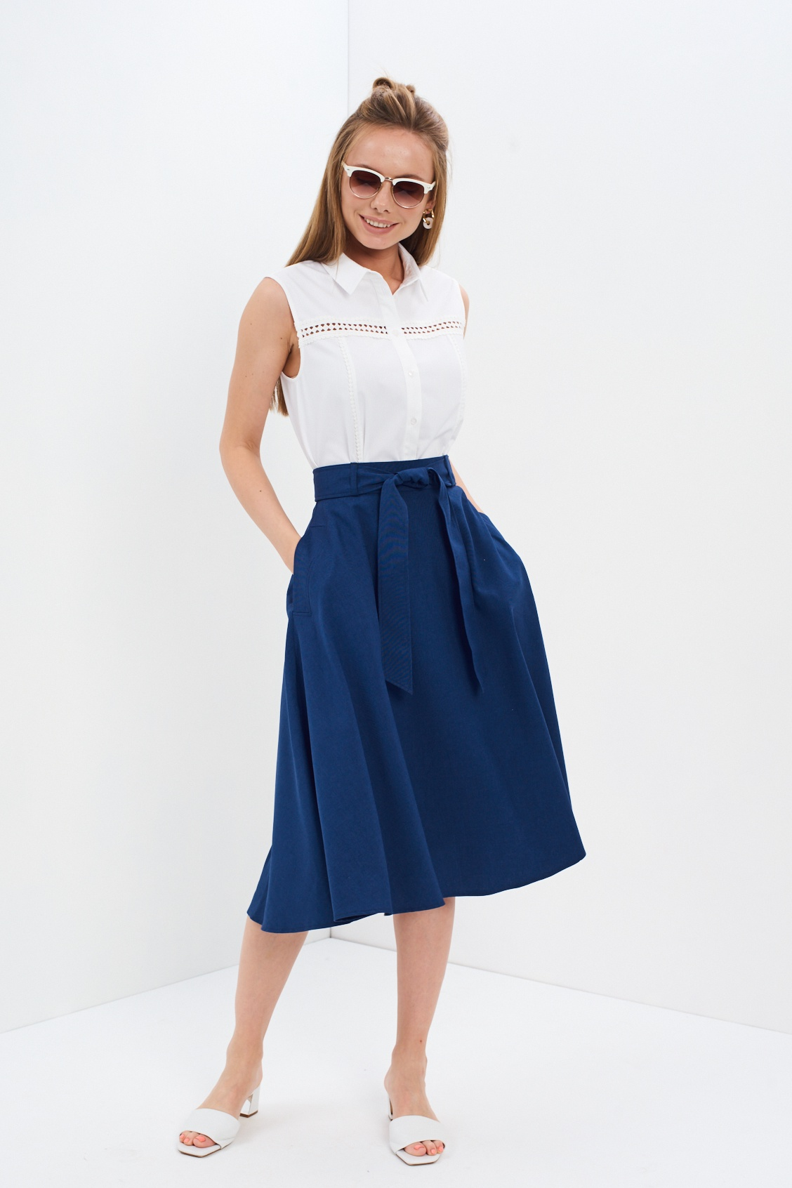Юбка ANTIGA юбка zarina цвет темно синий 8122214207047 размер 44