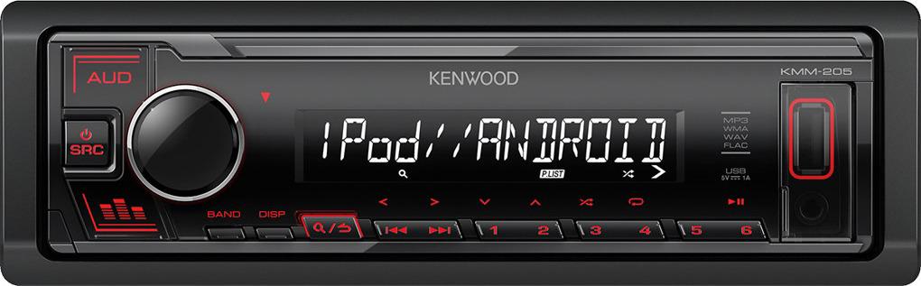Автомагнитола Kenwood KMM-205 автомагнитола kenwood kmm 105ay 1din 4x50вт