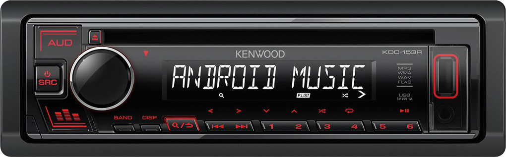 Автомагнитола CD Kenwood KDC-153R автомагнитола cd kenwood kdc 130ug 1din 4x50вт