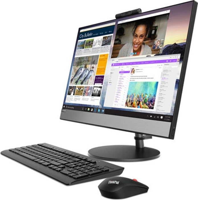 23.8 Моноблок Lenovo V530-24ICB (10UW0006RU), черный моноблок lenovo v530 24icb 24 fullhd core i3 8100t 8gb 1tb dvd kb m dos
