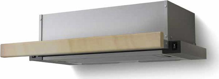 Вытяжка встраиваемая Lex Hubble 600 RAW, нержавеющая сталь/бук неокрашенный встраиваемая вытяжка lex hubble 600 ivory