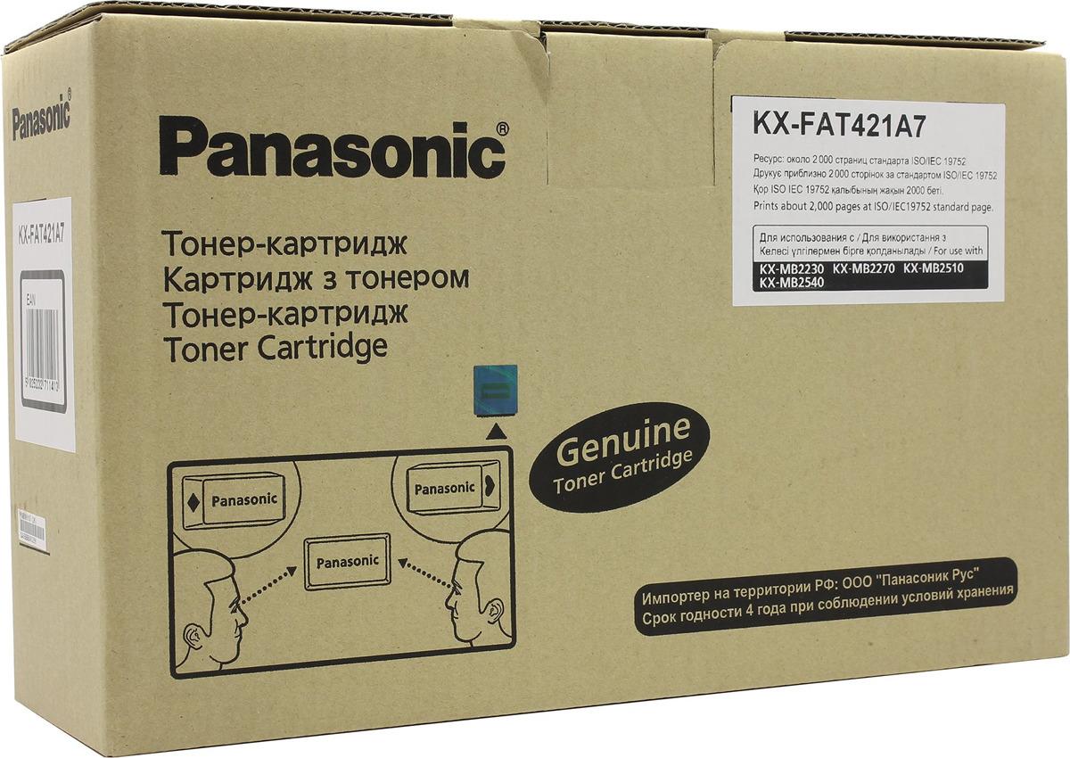 Картридж Panasonic KX-FAT421A7, черный, для лазерного принтера